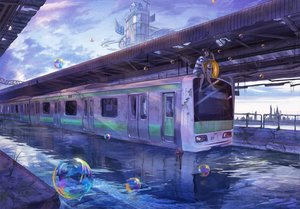 Rating: Safe Score: 128 Tags: animal bubbles clouds dog lalil-le original scenic sky swim_ring train water User: Flandre93