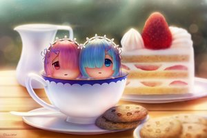 Rating: Safe Score: 168 Tags: aqua_eyes aqua_hair cake chibi dej_(shiori2525) food fruit headdress pink_hair ram_(re:zero) red_eyes rem_(re:zero) re:zero_kara_hajimeru_isekai_seikatsu short_hair signed strawberry twins User: mattiasc02