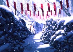 Rating: Safe Score: 89 Tags: horns japanese_clothes kimono mocha_(cotton) original scenic short_hair snow tree winter User: Flandre93