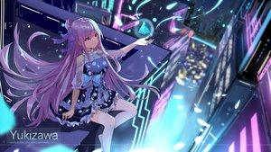 Rating: Safe Score: 79 Tags: bow building city dress long_hair original petals purple_eyes purple_hair ribbons thighhighs watermark yukizawa_xueze User: RyuZU