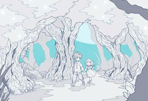 Rating: Safe Score: 18 Tags: aldo_(another_eden) another_eden feinne_(another_eden) forest loli male moku_(gnak5442) polychromatic tree User: FormX