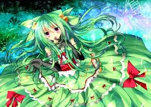 Rating: Safe Score: 81 Tags: anthropomorphism butterfly dress gloves green_hair homare lilligant pink_eyes pokemon ribbons User: HawthorneKitty