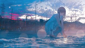 Rating: Safe Score: 68 Tags: banishment clouds dress original scenic signed summer summer_dress sunset water User: FormX