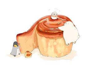 Rating: Safe Score: 29 Tags: animal bear bird chai_(artist) food hat original penguin scarf signed white User: otaku_emmy