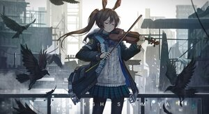 Rating: Safe Score: 44 Tags: amiya_(arknights) arknights instrument ponytail violin zhai User: Lily89402