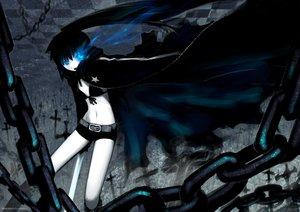 Rating: Safe Score: 48 Tags: black_rock_shooter blue_eyes boots bra cape chain cosplay kyonko ling_(cg_sky) long_hair parody ponytail suzumiya_haruhi_no_yuutsu sword underwear weapon User: PAIIS