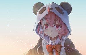 Rating: Safe Score: 32 Tags: bow gradient haniwa hoodie nijisanji pink_eyes pink_hair sasaki_saku short_hair User: Fepple