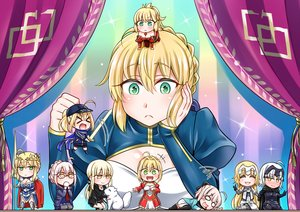 Rating: Safe Score: 37 Tags: animal armor artoria_pendragon_(all) blonde_hair blush boots braids breasts cape chibi cross crown dog dress elbow_gloves fate/apocrypha fate/extra fate/grand_order fate_(series) fate/stay_night gloves gray_eyes green_eyes hat headdress japanese_clothes jeanne_d'arc_alter jeanne_d'arc_(fate) kneehighs long_hair mabo-udon mordred mysterious_heroine_x mysterious_heroine_x_alter necklace nero_claudius_(fate) okita_souji_(fate) pantyhose ponytail saber scarf short_hair shorts skirt spear sword weapon yellow_eyes User: RyuZU