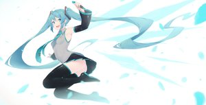 Rating: Safe Score: 76 Tags: aqua_eyes aqua_hair ass fhang hatsune_miku long_hair microphone thighhighs tie twintails vocaloid User: RyuZU