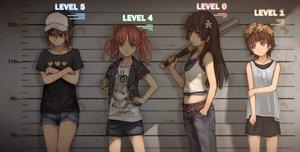 Rating: Safe Score: 149 Tags: black_hair brown_eyes brown_hair group hat headdress long_hair misaka_mikoto saten_ruiko shirai_kuroko short_hair shorts skirt to_aru_kagaku_no_railgun to_aru_majutsu_no_index twintails uiharu_kazari waifu2x weapon xiao_qiang_(overseas) User: RyuZU