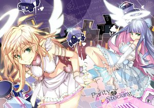 Rating: Safe Score: 175 Tags: blonde_hair garterbelt_(character) green_eyes panties panty_&_stocking_with_garterbelt panty_(character) pm_ringo purple_hair stocking_(character) underwear undressing wings User: opai