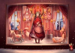 Rating: Safe Score: 86 Tags: braids bunny dress hatsune_miku ikushima long_hair snow stars teddy_bear vocaloid User: opai