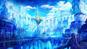 Rating: Safe Score: 92 Tags: 369minmin blue blue_hair building city clouds long_hair original polychromatic rainbow scenic User: Flandre93
