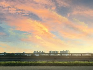 Rating: Safe Score: 22 Tags: building clouds grass mclelun nobody original realistic scenic sky sunset watermark User: RyuZU