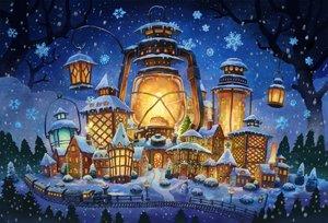 Rating: Safe Score: 41 Tags: building city kemi_neko night nobody original snow train tree winter User: FormX