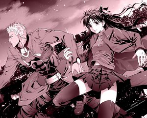 Rating: Safe Score: 12 Tags: archer fate_(series) fate/stay_night male monochrome tohsaka_rin User: Oyashiro-sama
