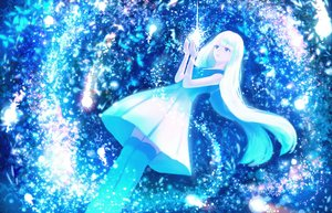 Rating: Safe Score: 16 Tags: blue blue_eyes bou_nin dress original polychromatic white_hair User: FormX