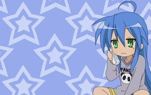 Rating: Safe Score: 9 Tags: blue izumi_konata lucky_star phone stars User: Oyashiro-sama