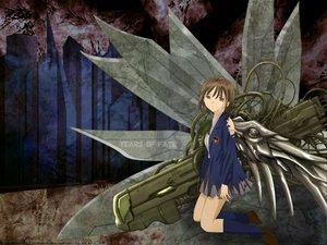 Rating: Safe Score: 12 Tags: chise saikano saishuu_heiki_kanojo techgirl wings User: Oyashiro-sama