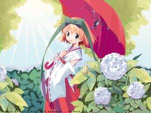 Rating: Safe Score: 7 Tags: animal bow flowers harada_takehito japanese_clothes miko short_hair snail umbrella watermark User: Oyashiro-sama