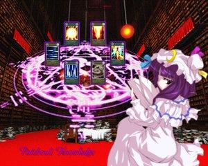 Rating: Safe Score: 6 Tags: book dress hat long_hair mage magic patchouli_knowledge purple_eyes purple_hair touhou User: Oyashiro-sama