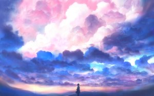 Rating: Safe Score: 39 Tags: bou_nin clouds original polychromatic scenic sky User: FormX