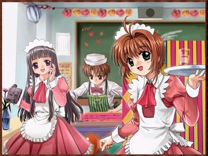 Rating: Safe Score: 9 Tags: card_captor_sakura daidouji_tomoyo duplicate kinomoto_sakura li_syaoran moonknives waitress User: Oyashiro-sama