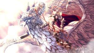 Rating: Safe Score: 46 Tags: armor bodysuit brown_hair dragon garter_belt horns long_hair navel original pointed_ears red_eyes tagme_(artist) underboob User: BattlequeenYume