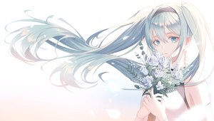 Rating: Safe Score: 63 Tags: aqua_eyes aqua_hair flowers hatsune_miku long_hair rose signed soli_(pouiliuoq_soli) twintails vocaloid User: mattiasc02