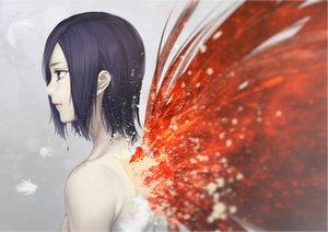 Rating: Safe Score: 116 Tags: blue_eyes blue_hair kazakami_yuu kirishima_touka short_hair tokyo_ghoul wings User: Flandre93