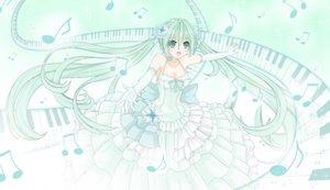 Rating: Safe Score: 16 Tags: dress green_eyes green_hair hatsune_miku long_hair polychromatic tsu-kaze twintails vocaloid User: sadodere-chan