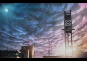Rating: Safe Score: 114 Tags: clouds hono_mochizuki moon nobody original scenic sky stairs stars User: opai