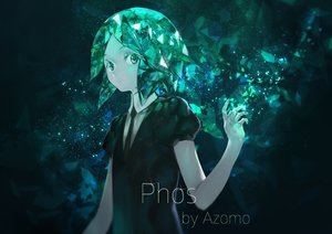 Rating: Safe Score: 70 Tags: anthropomorphism avamone green_eyes green_hair houseki_no_kuni phosphophyllite short_hair watermark User: BattlequeenYume