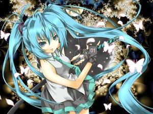 Rating: Safe Score: 62 Tags: hatsune_miku katana sword vocaloid weapon User: Zero
