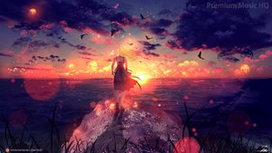 Rating: Safe Score: 64 Tags: animal bird blonde_hair clouds dress long_hair ryky scenic signed sky water watermark User: BattlequeenYume