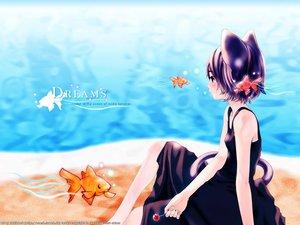 Rating: Safe Score: 19 Tags: animal animal_ears catgirl fish houden_eizou User: Oyashiro-sama