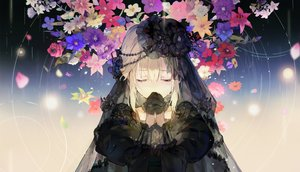 Rating: Safe Score: 72 Tags: blonde_hair crying dress flowers gloves goth-loli gradient hat headdress hihara_you lolita_fashion long_hair original tears User: BattlequeenYume