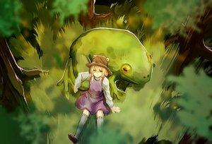 Rating: Safe Score: 41 Tags: animal dress eredhen frog grass hat moriya_suwako thighhighs touhou tree User: humanpinka