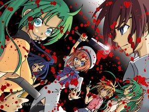 Rating: Safe Score: 62 Tags: blood furude_rika higurashi_no_naku_koro_ni houjou_satoko maebara_keiichi ryuuguu_rena sonozaki_mion sonozaki_shion twins User: Oyashiro-sama