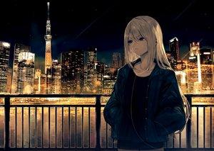 Rating: Safe Score: 70 Tags: blonde_hair blue_eyes building city headphones higuchi_kaede long_hair misaki_nonaka night nijisanji scenic water User: Dreista