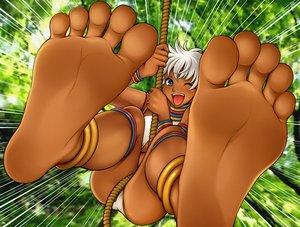 Rating: Safe Score: 23 Tags: barefoot dark_skin elena rg street_fighter User: FormX