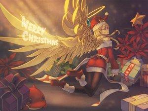 Rating: Safe Score: 104 Tags: angel_(p&d) blonde_hair braids christmas hat pantyhose puzzle_&_dragons rotix santa_costume santa_hat wings User: Flandre93