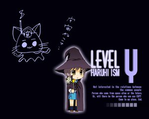 Rating: Safe Score: 81 Tags: animal black bow brown_eyes cape cat chibi gray_hair hat jpeg_artifacts kneehighs nagato_yuki nagian school_uniform short_hair suzumiya_haruhi_no_yuutsu wand witch User: Oyashiro-sama