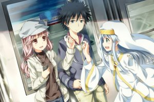 Rating: Safe Score: 104 Tags: index kamijou_touma meigo_arisa nun to_aru_majutsu_no_index train yuuri_nayuta User: Stealthbird97