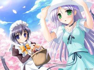 Rating: Safe Score: 23 Tags: augustic_pieces dress feena_fam_earthlight hat maid mia_clementis summer_dress yoake_mae_yori_ruri_iro_na User: Oyashiro-sama