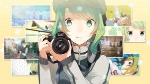 Rating: Safe Score: 62 Tags: camera green_eyes green_hair gumi hat koyubi short_hair vocaloid User: Dummy