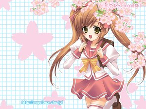 Rating: Safe Score: 18 Tags: flowers hazuki_ruka original school_uniform thighhighs twintails User: Oyashiro-sama