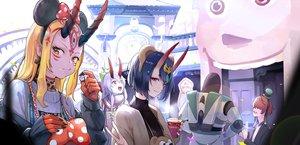Rating: Safe Score: 42 Tags: +15 animal_ears crossover demon disney fate/grand_order fate_(series) food fuuma_kotarou group headband horns ibaraki_douji_(fate) long_hair short_hair shuten_douji_(fate) tomoe_gozen User: BattlequeenYume