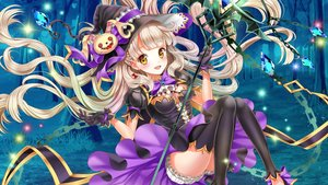 Rating: Safe Score: 6 Tags: blonde_hair breasts cleavage dress gloves hat long_hair mayu_(vocaloid) moyon ribbons thighhighs vocaloid witch yellow_eyes User: Flandre93