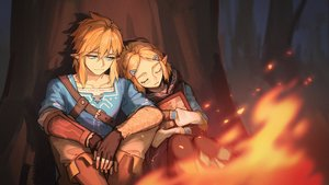 Rating: Safe Score: 48 Tags: alzi aqua_eyes blonde_hair blush book boots braids fire forest gloves link_(zelda) male night pointed_ears princess_zelda short_hair sleeping the_legend_of_zelda tree User: sadodere-chan